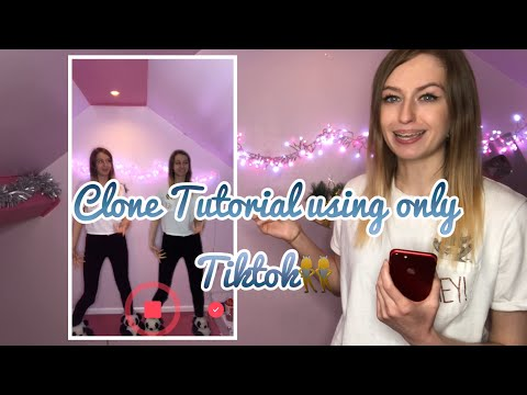 How to Clone yourself using ONLY the app TikTok!! *NEW*