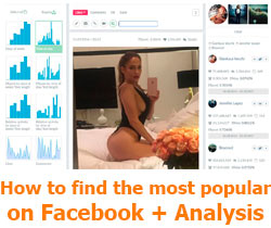 How to find the most popular on Facebook, and also analysis