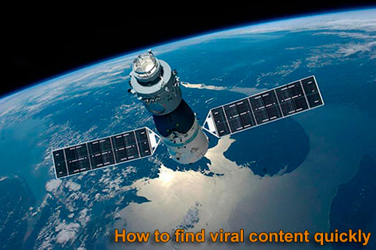 Find the viral content and most shared content on the Internet