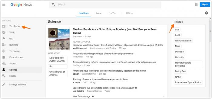 How to use the Google news aggregator to find viral content