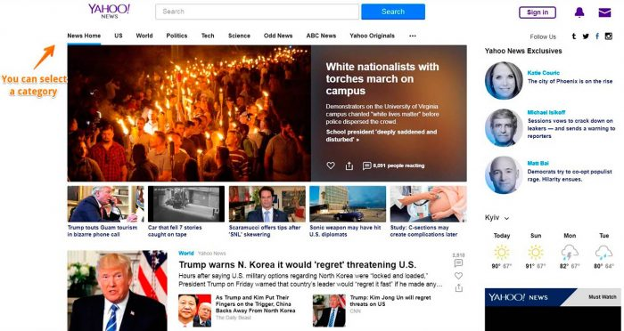 How to use the Yahoo news aggregator to find the most shared content