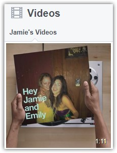 Example of videos on Facebook profile