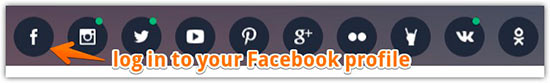 Log in to your Facebook profile