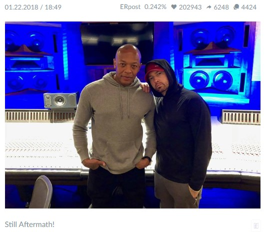 Eminem's Facebook page is one of the best