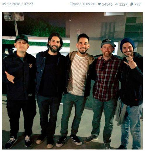 One of the best Linkin Park's picture on Fb