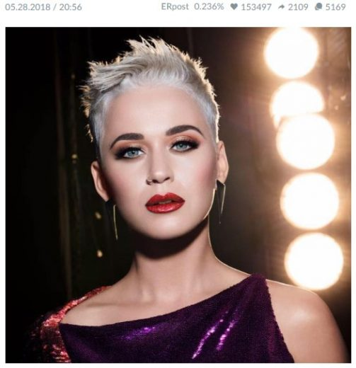 Katy Perry's great photo from Facebook page