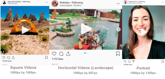 Instagram Video Posts size
