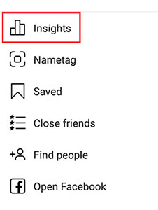 Built-in post statistics with Instagram Insights