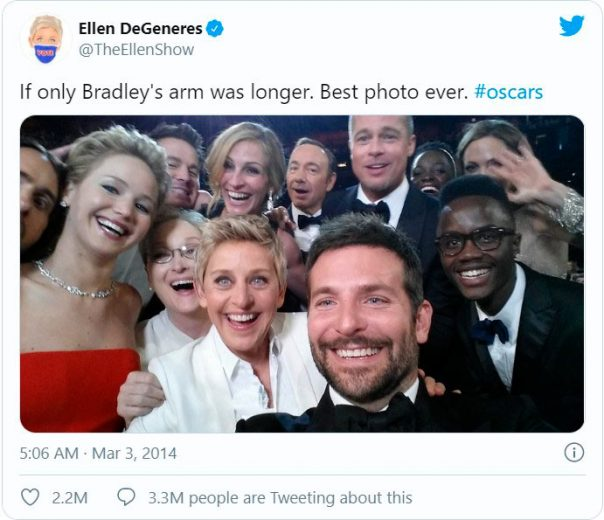 Top liked tweet from the Oscar