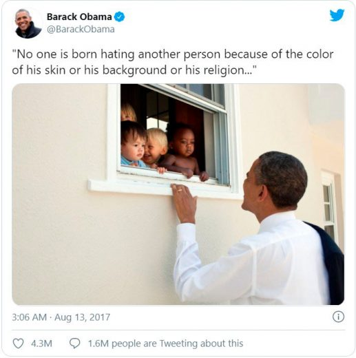 One of the most liked tweets with Barack Obama